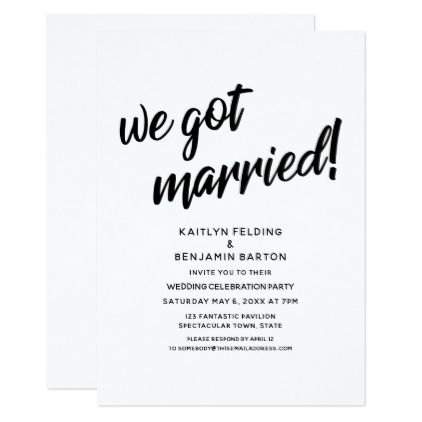 We Got Married Script Wedding Reception Event Invitation