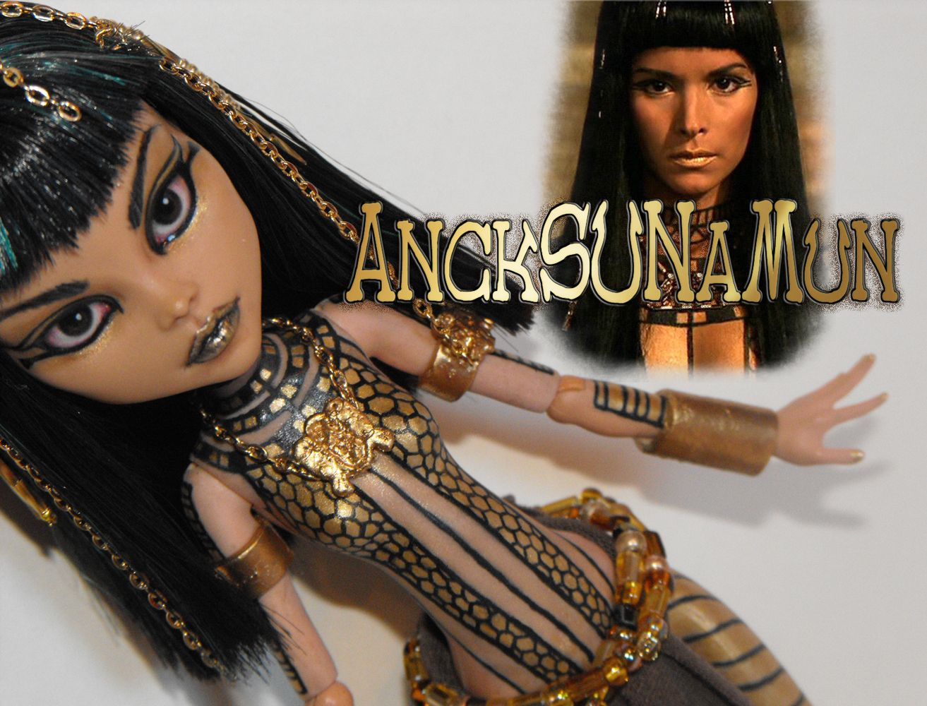 Ancksunamun The Mummy Ooak Monster High School S Out Cleo