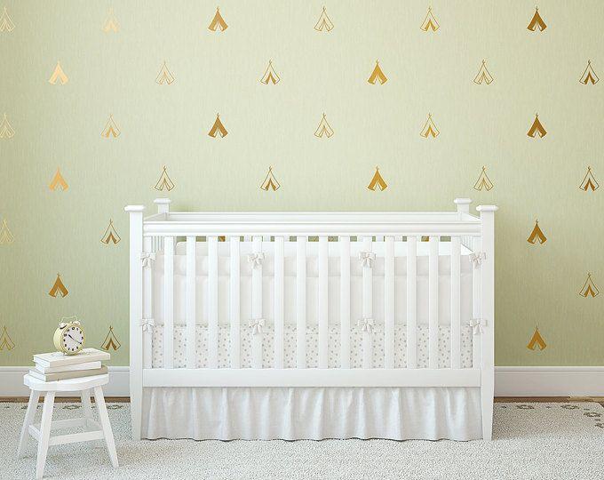 Cute Tipi Wandtattoo Aufkleber Aufkleberbogen Adorable Kindergarten Gold Wand moderne einzigartige Aufkleber Tribal