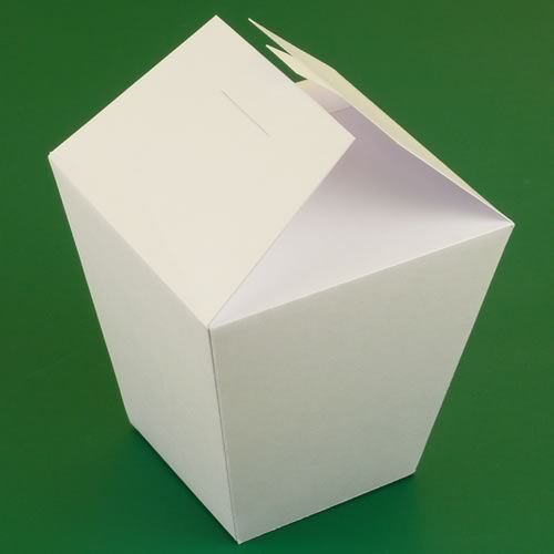Chinese take out box template packaging shapes for Paper containers diy