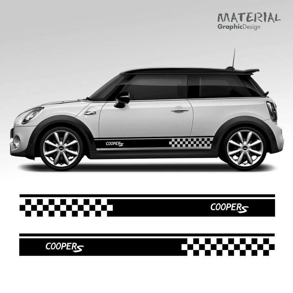 A Pair Of Mini Cooper S One Car Side Stripes Graphics Stickers Decals Applying Stickers Is An Easy And Straightforward Process Stiker Mobil Mobil Impian Mobil [ 1000 x 1000 Pixel ]