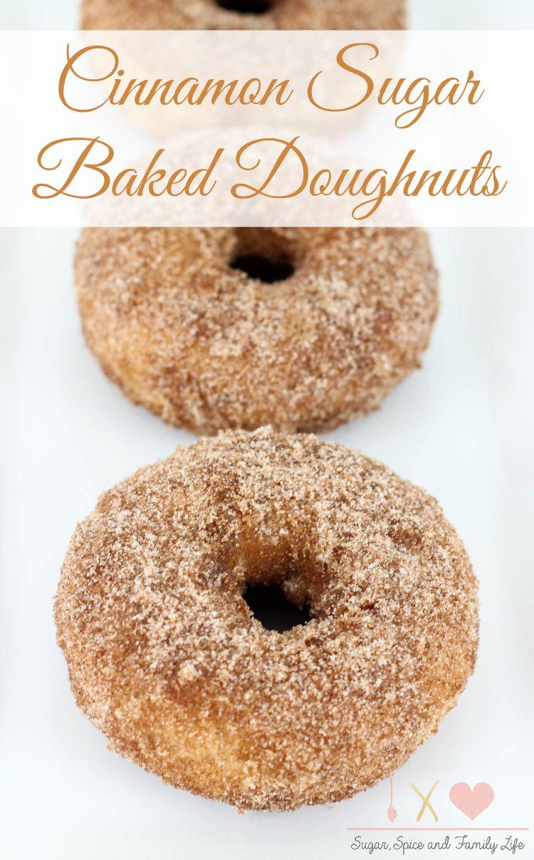 Cinnamon Sugar Baked Doughnuts are a delicious sweet
