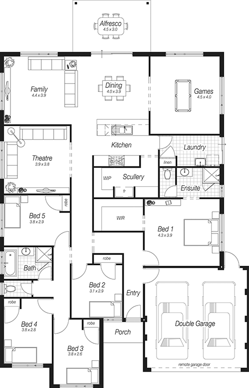 Home Plans Perth The Bodiam Complete Homes House Plans Australia Australian House Plans Home Design Floor Plans