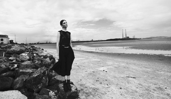 SHOT ON LOCATION:(SAND, SEA AND INDUSTRY) Dublin, by Photographer Lucia O'Connor-McCarthy Stylist: Magdalena Bryk Model: Carrie-Anne Burton Hair: Trudy Hayes Make-up: Kathryn O'Neil - SUITCASE Magazine