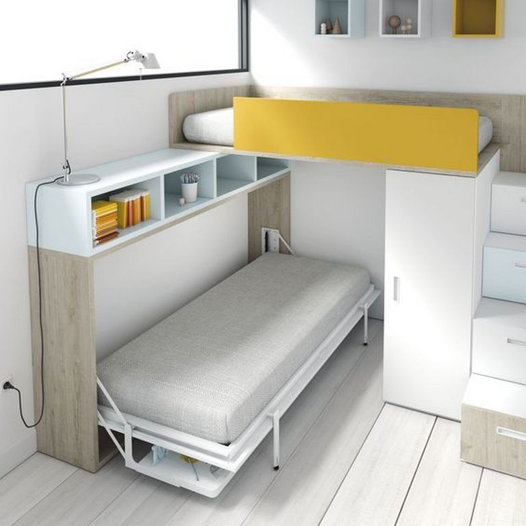 Pin by gonawa on storage convertible furniture space - Space saving bedroom furniture ...