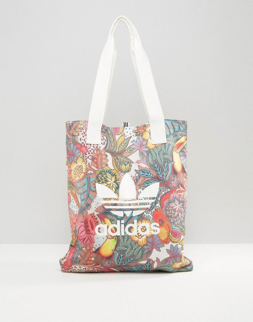 92161e103e ADIDAS ORIGINALS ADIDAS ORIGINALS FARM PRINT SHOPPER BAG IN BRIGHT FLORAL -  MULTI.  adidasoriginals  bags  hand bags  polyester