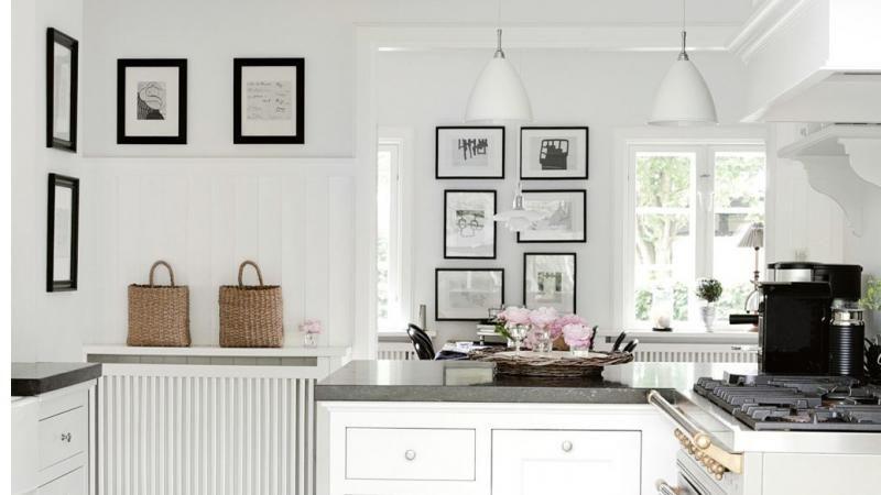 Fresh white home in the Danish countryside