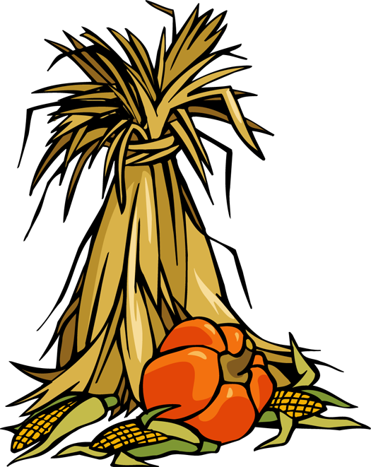 colorful clip art for the autumn season cornstalks and pumpkins rh pinterest com  haystack clipart black and white