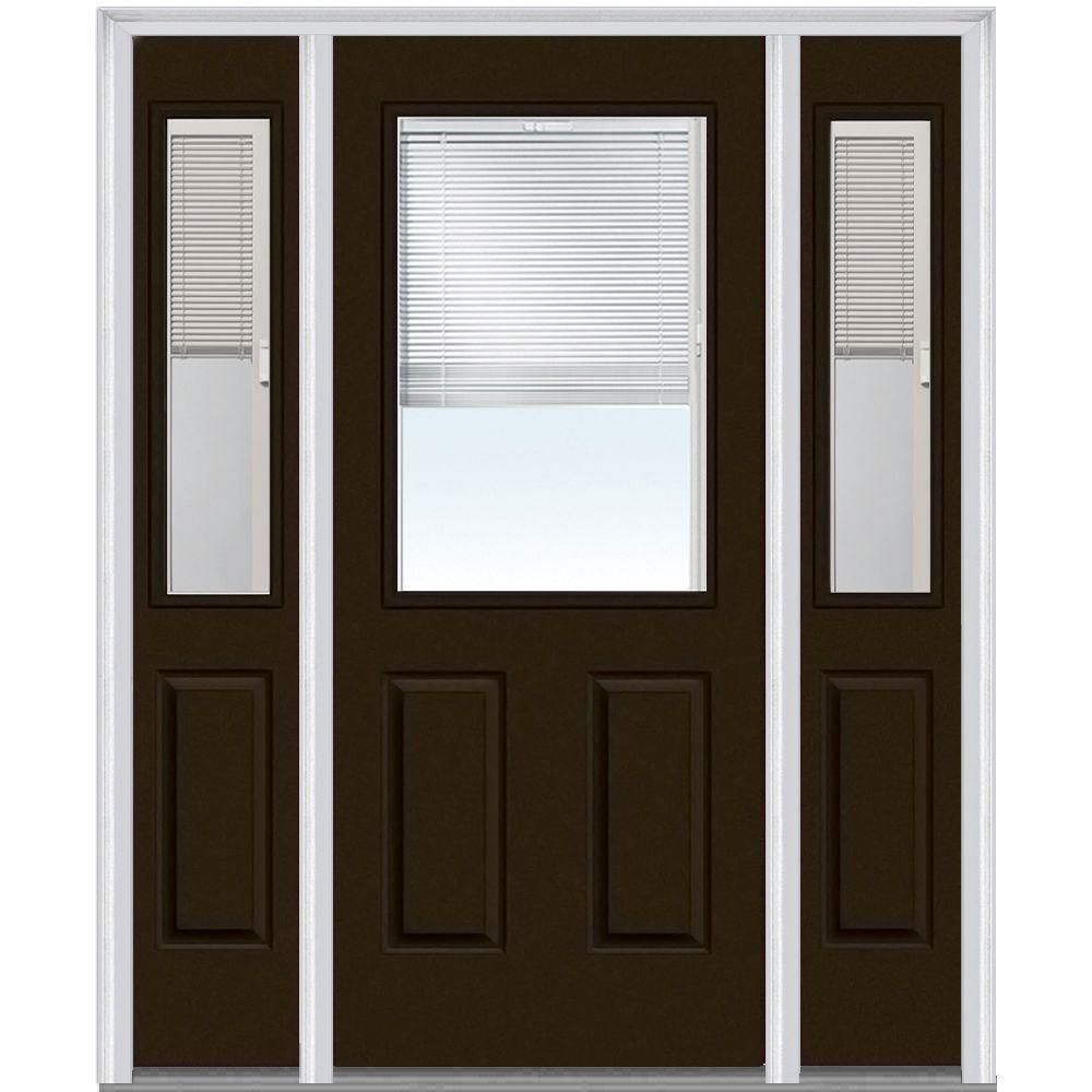 Mmi door in x in internal blinds righthand lite panel