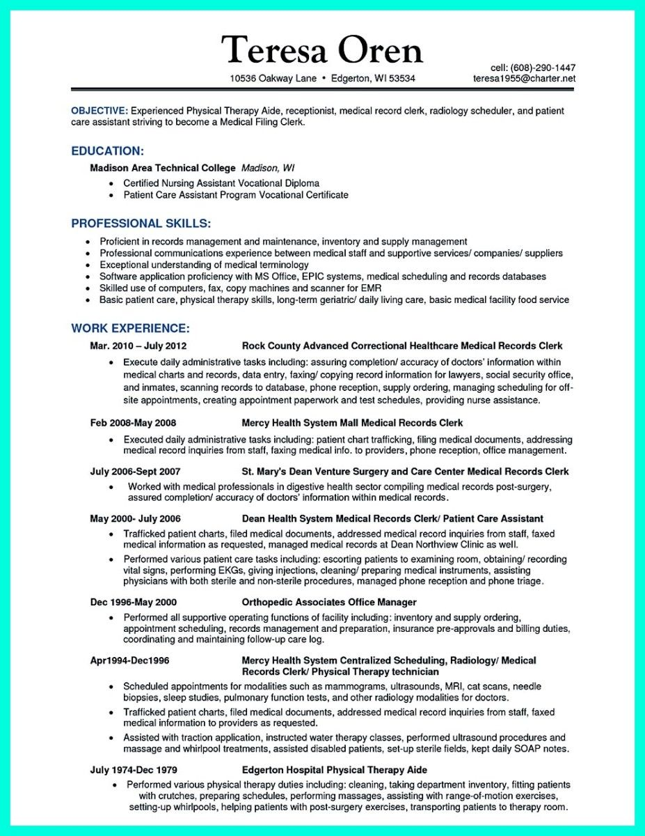 Nice Impress The Employer With Great Certified Nursing Assistant Resume Check More At Http Sn Patient Care Assistant Patient Care Technician Resume Examples