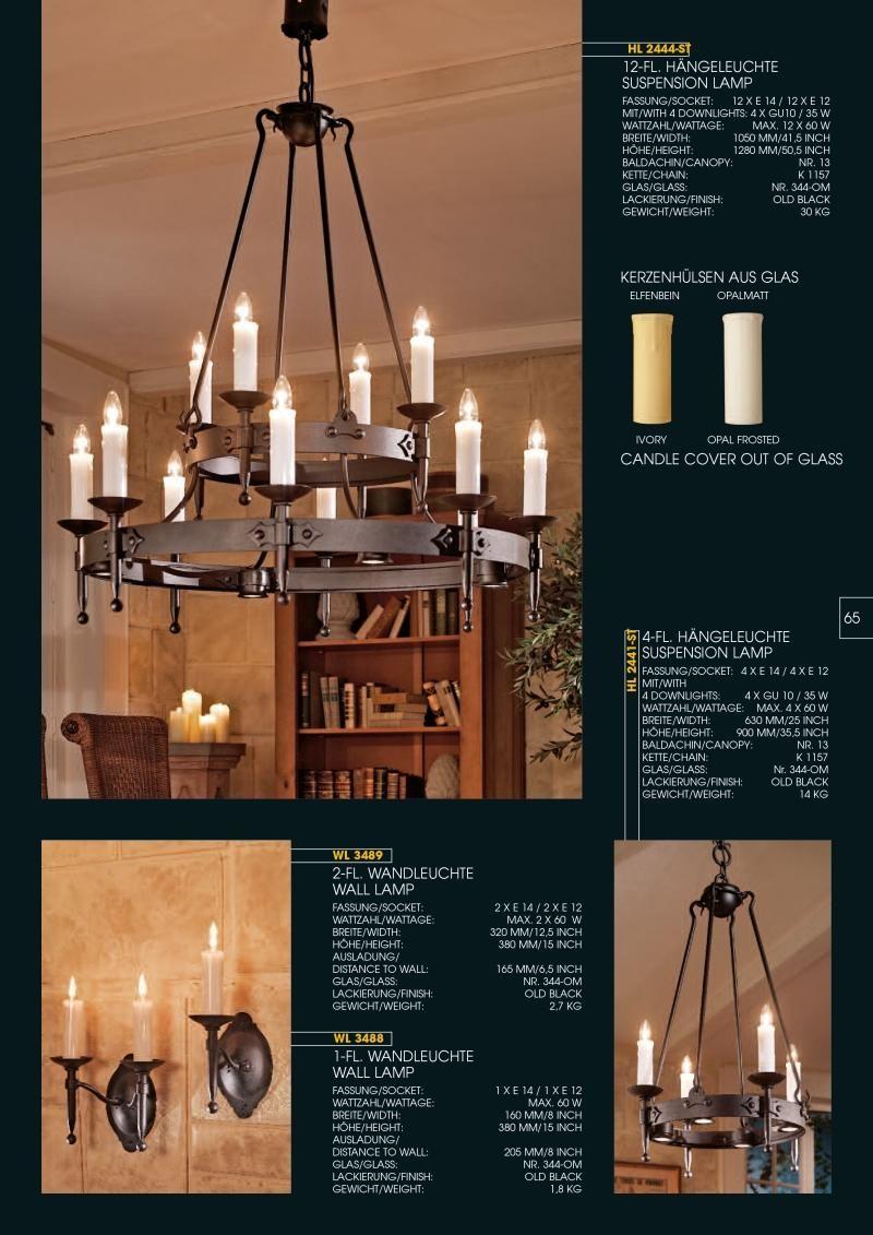 Robers Leuchten Indoor Katalog Leuchten Wandleuchte Schmiedearbeiten
