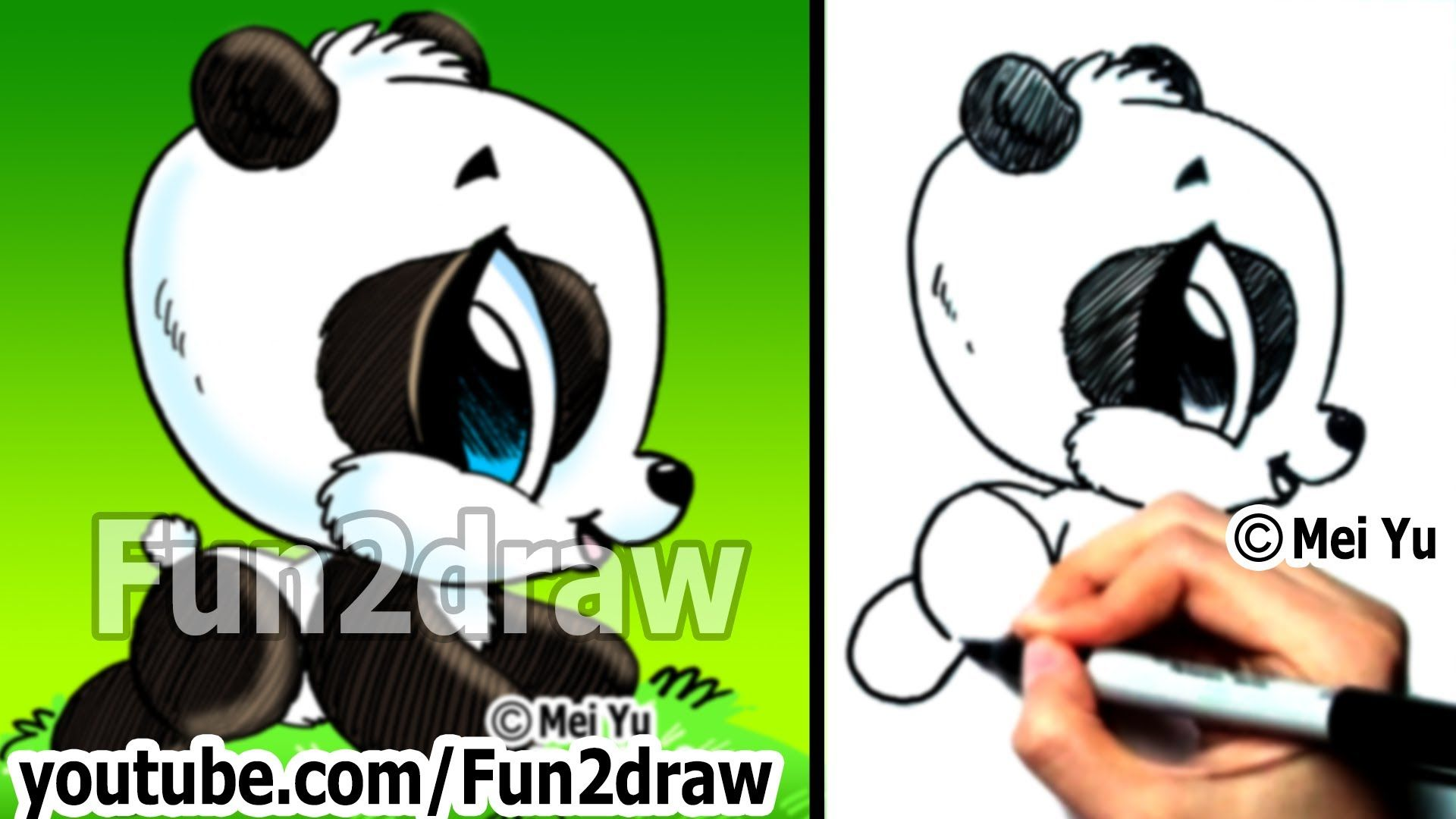 Easy Things To Draw Drawing Tutorials How To Draw A Panda Draw Ani