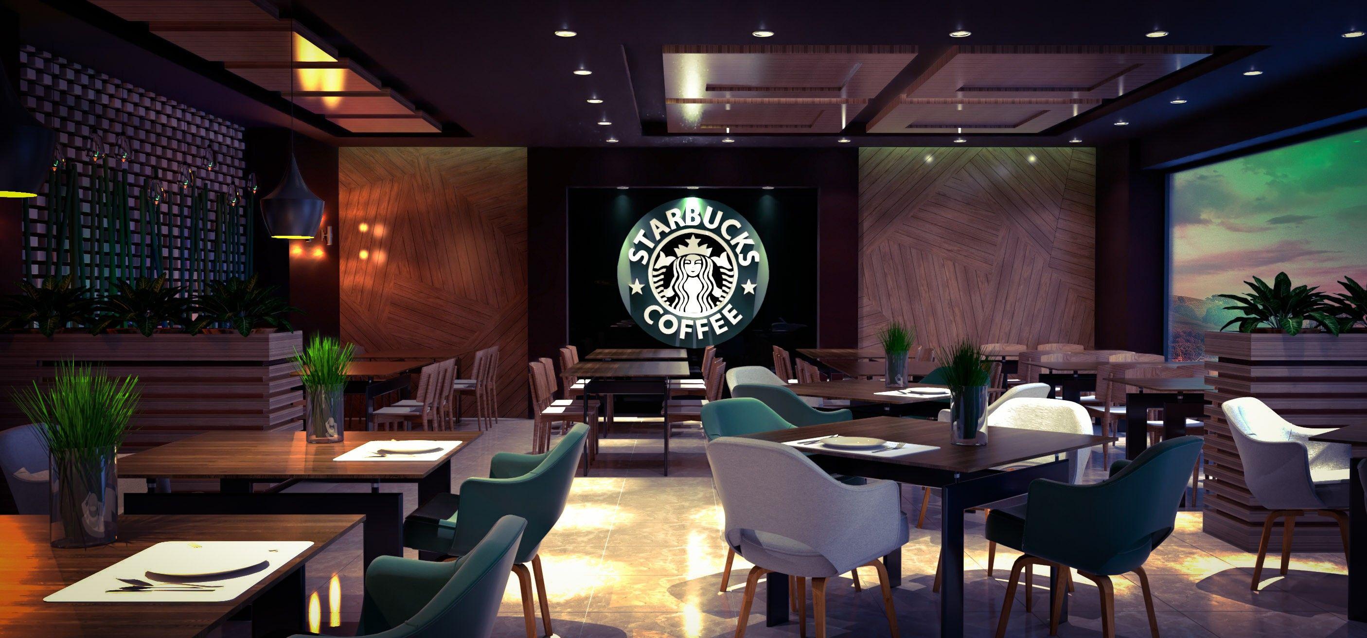 Diseño interior cafeteria #starbucks   Interiores cafetería, Interiores,  Disenos de unas