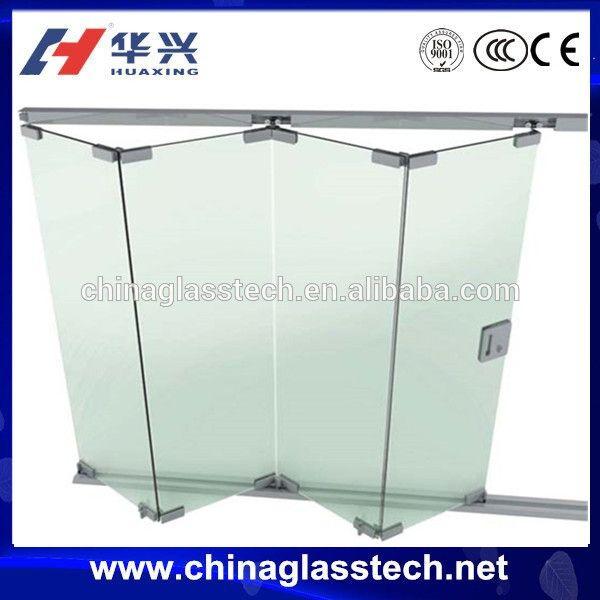 Bad/Büro/küche simple dekorativen glas faltbare trennwand-Bild-Tür