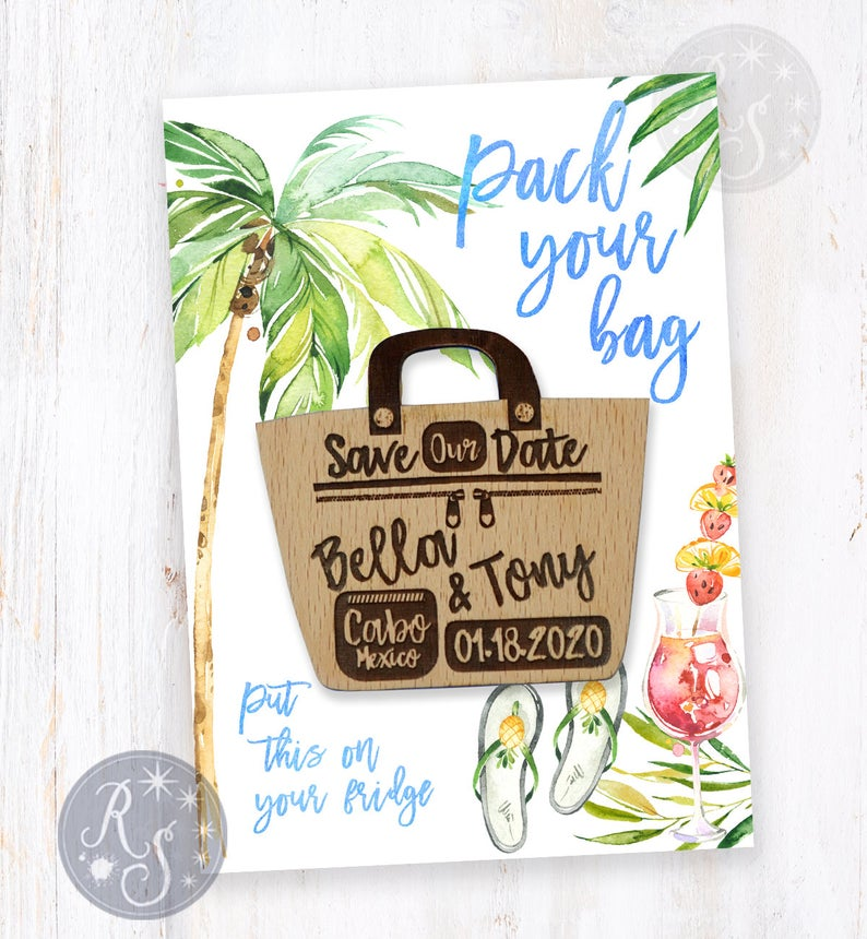 Tropical save the date Pack your bag cruise
