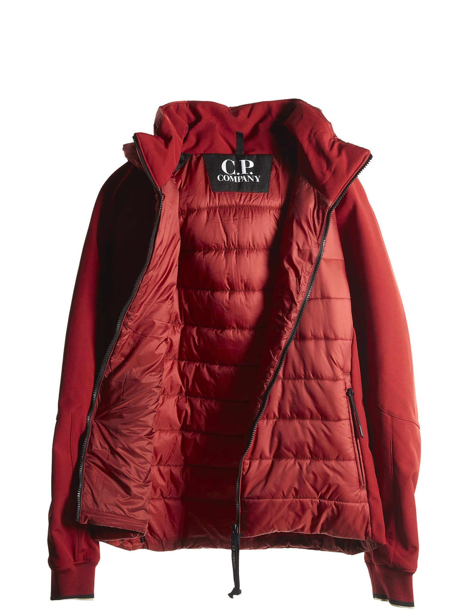 c72bae432 C.P. Company Goggle Jacket with Padded Chest in Red