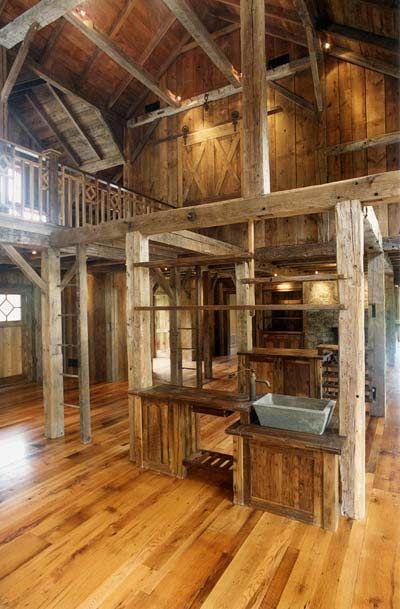 Barn Interior Too Clean