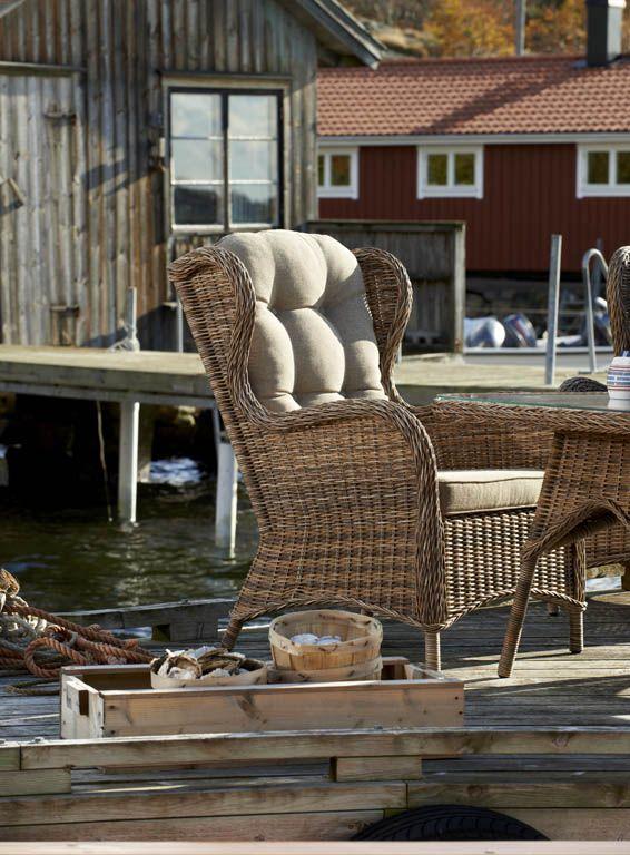 Evita - Klassisk mormorsfåtölj. Finns både med grå och ... on Bade Outdoor Living id=63005