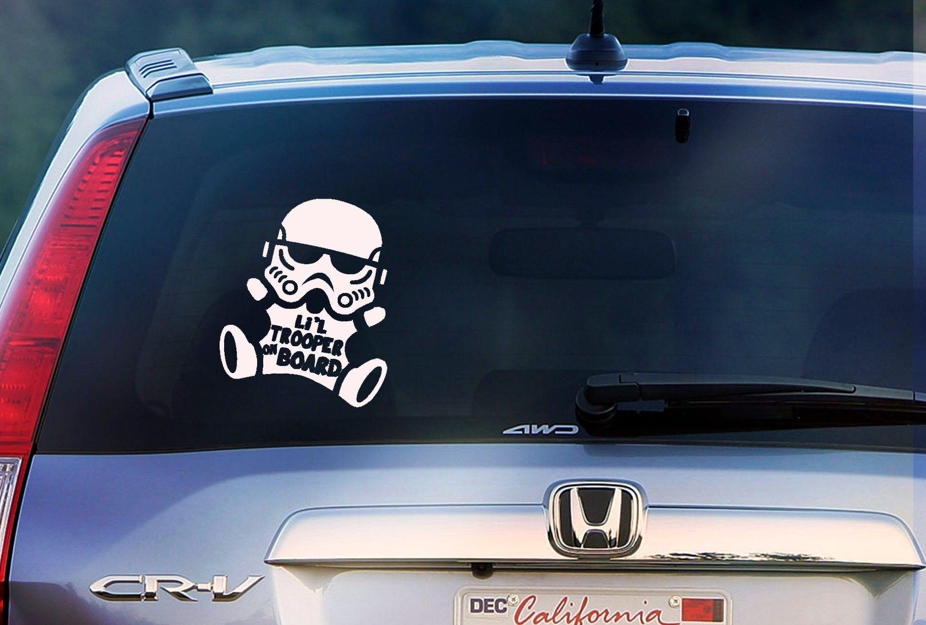 Li L Trooper On Board Baby Star Wars Car Sticker Car Window Decal Sticker Wall Sticker Labtop Decal Vinyl Art In Vari Star Wars Baby Window Decals Trooper [ 1233 x 1826 Pixel ]