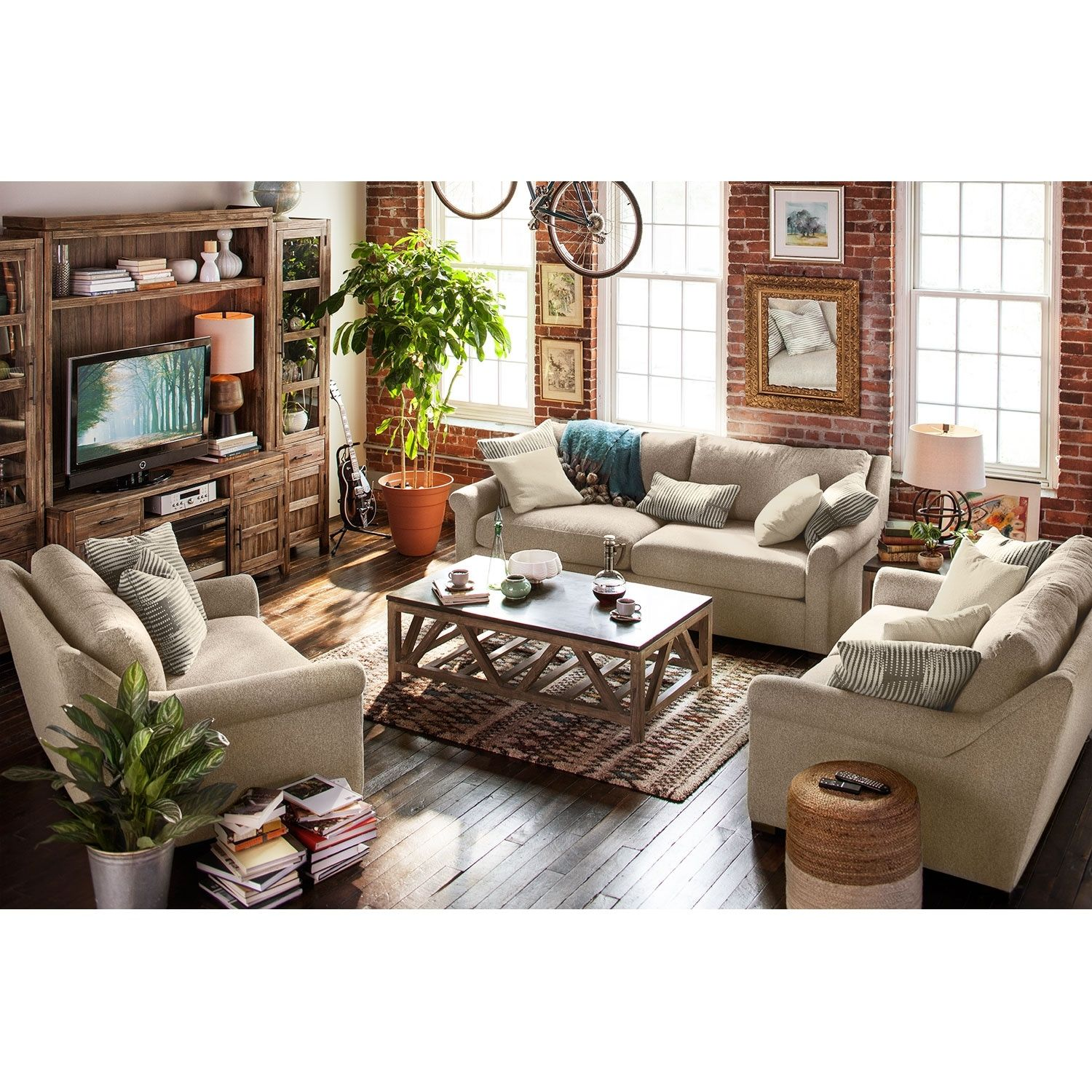 roberston sofa loveseat and chair and a half set value city rh in pinterest com