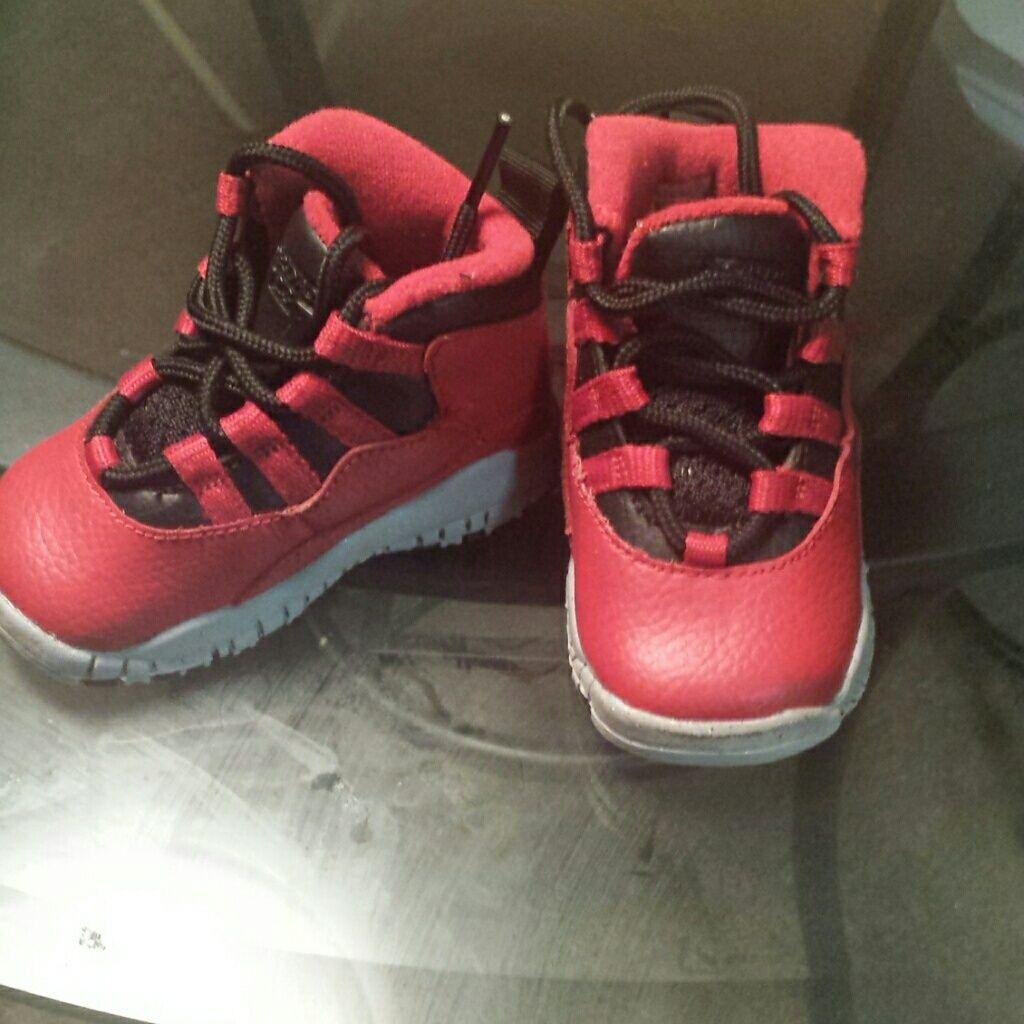 meet 82363 88c8d Jordan Shoes | Retro 10'S Infants | Color: Black/Red | Size ...