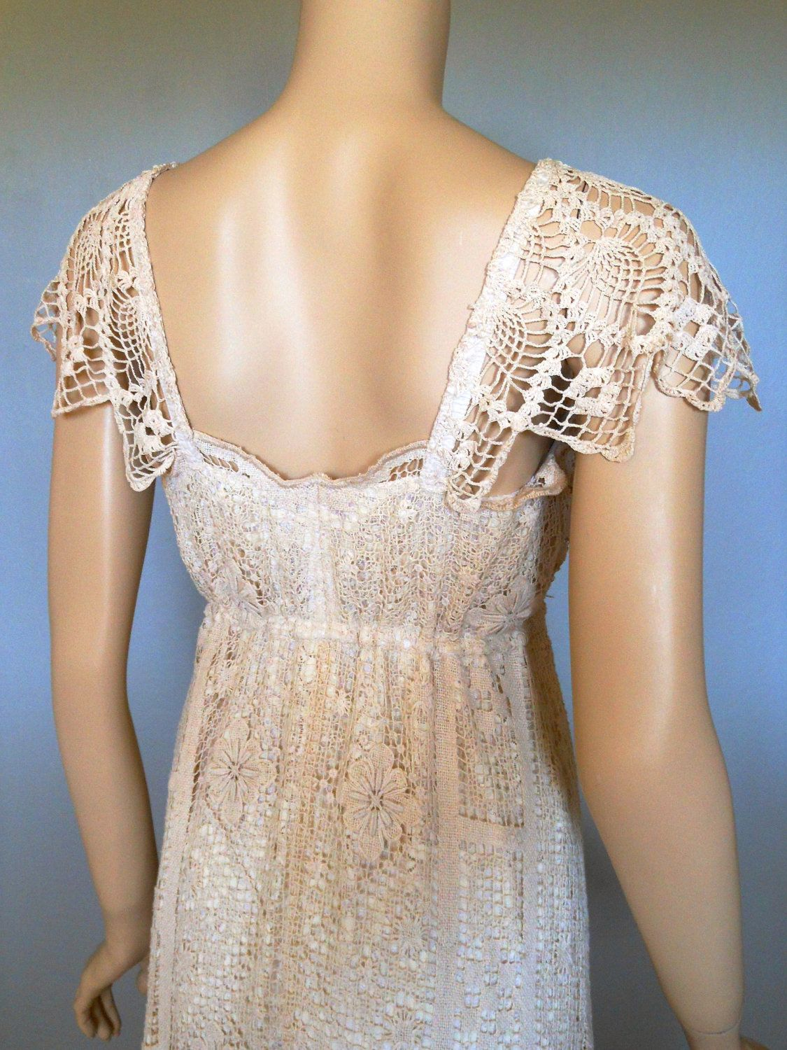 Reserved katie downton abby antique lace wedding dress sheer flutter