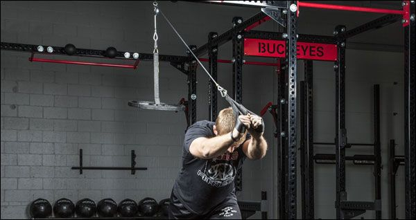 Two thumbs up for the spud inc. lat & tricep pulley workout