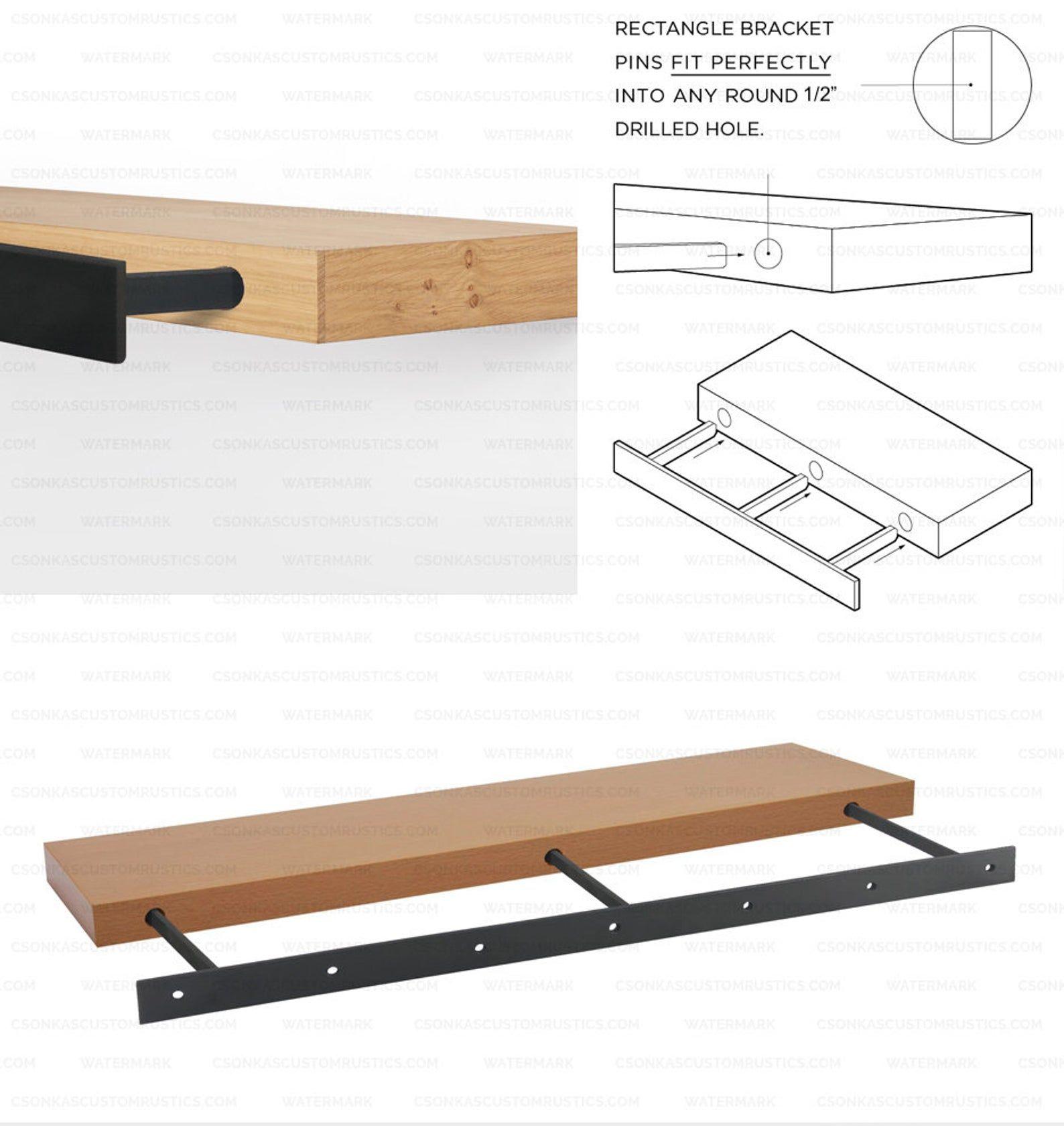 Floating Shelf Brackets Size Range 10l To 78l Etsy In 2020 Floating Shelf Brackets Shelf Brackets Floating Shelves
