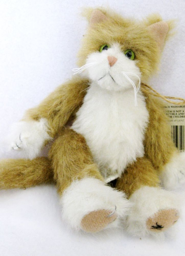 Cottage Collectibles Ganz Jointed Cat Ginger Approx 7 Long Cats Teddy Bear Cottage