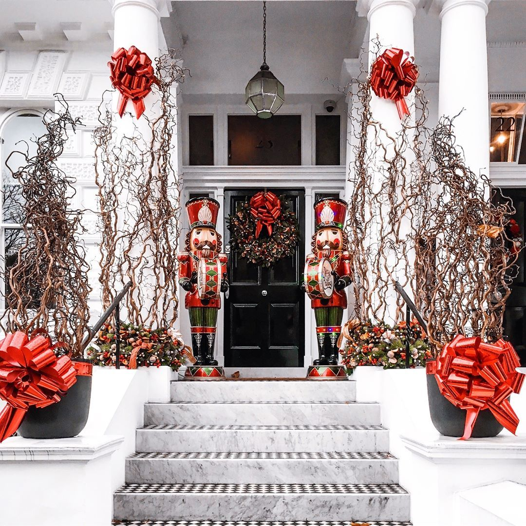Daniela On Instagram It S Beginning To Look A Lot Like Christmas Everywhere You Go Here We Go Peo London Christmas Holiday Decor Front Porch Decorating