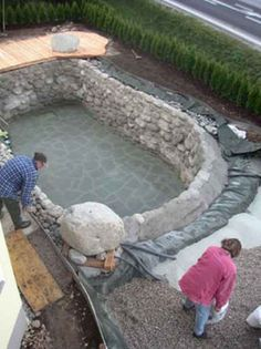Building A New Natural Pool. Uses A Natural Water Filtration System Instead  Of Chlorine. Love The Ambience It Gives   Useful For The Gorgeous Look Even  When ...