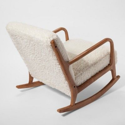 Outstanding Esters Wood Arm Chair Sherpa White Project 62 In 2019 Evergreenethics Interior Chair Design Evergreenethicsorg