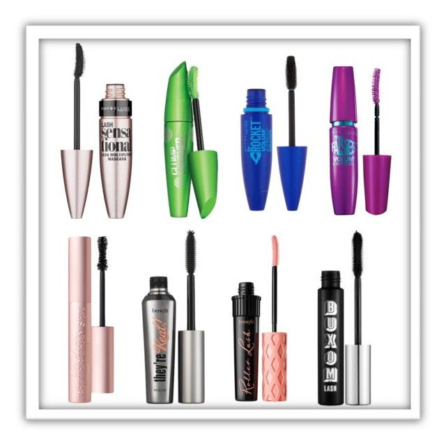 """""""Favorite Mascaras"""" by christinetsai7 ❤ liked on Polyvore featuring beauty, Maybelline, Benefit, Too Faced Cosmetics and Buxom"""