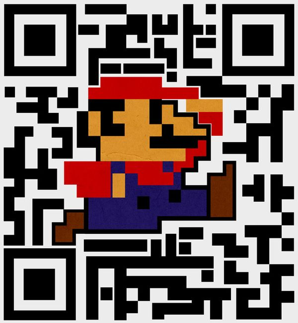 Super Mario Qr Code New Super Mario Bros Pinterest