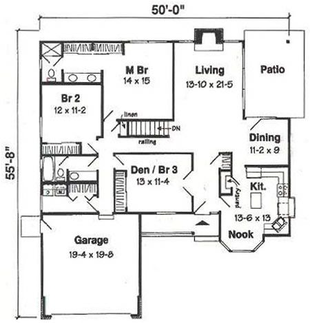 1620 Sq Ft House Plan 16 002 225 From Planhouse Home Plans House Plans Floor Plans Design Plans House Plans Floor Plans Floor Plan Design