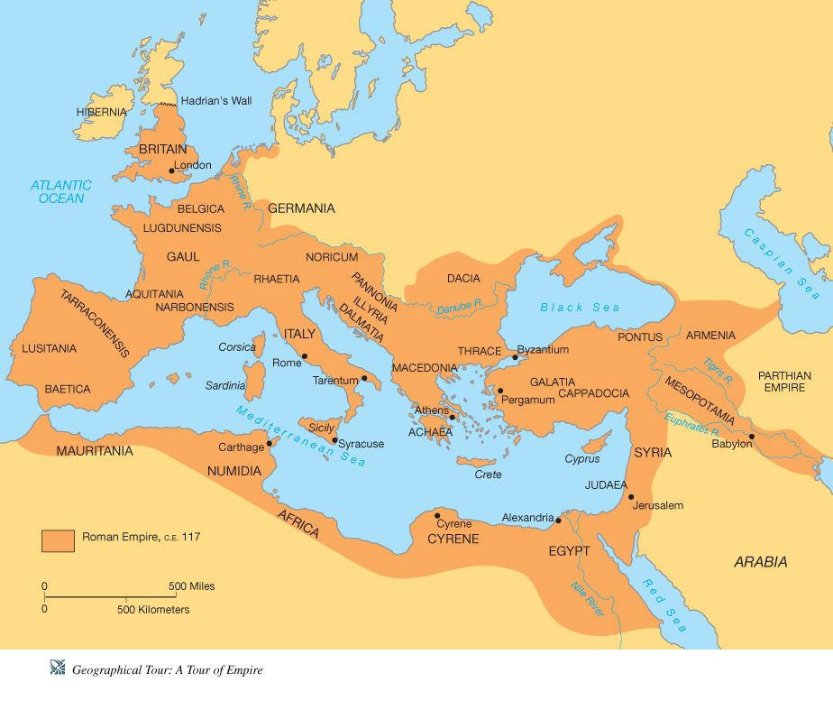 Blank Map of Roman Empire | Hand out blank map of the Roman Empire