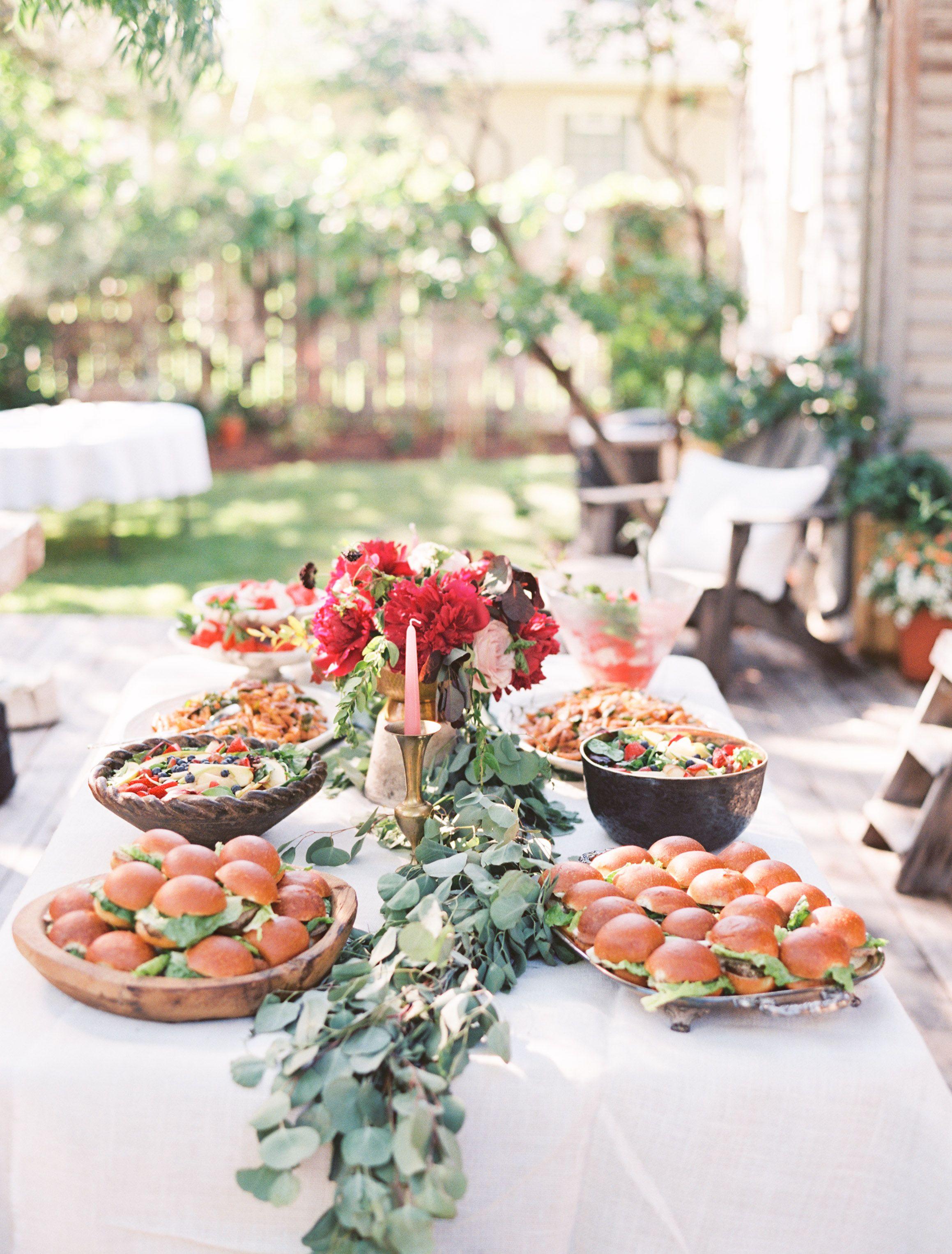 backyard bridal shower jenny bradley design catering by lori