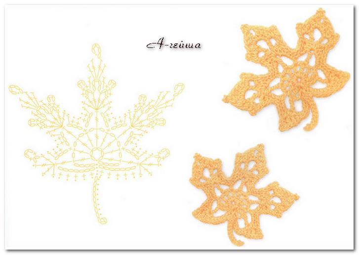 Singola - Daliute - bacio dalla Lituania! | crochet leaves ...