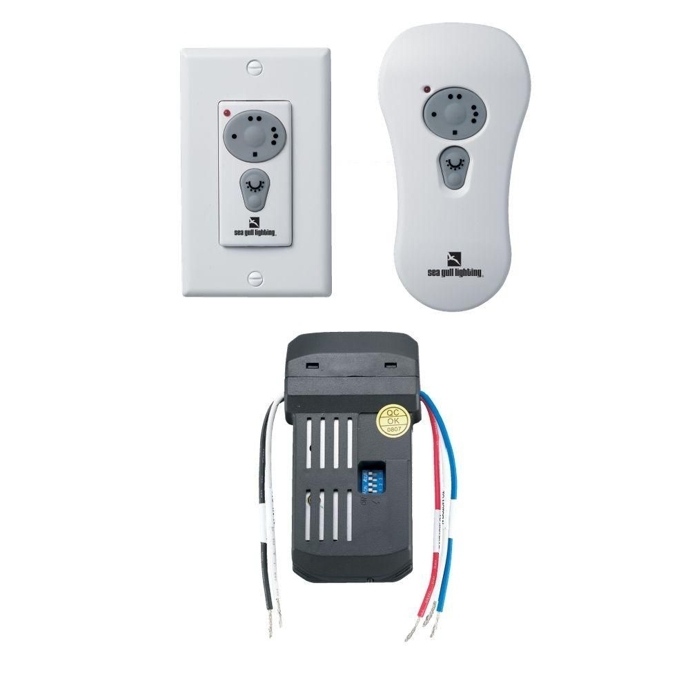 Hunter ceiling fan wireless wall switch httponlinecompliance shop sea gull lighting combo remote control fan light kit at lowes canada find our selection of ceiling fan controls remotes at the lowest price aloadofball Gallery