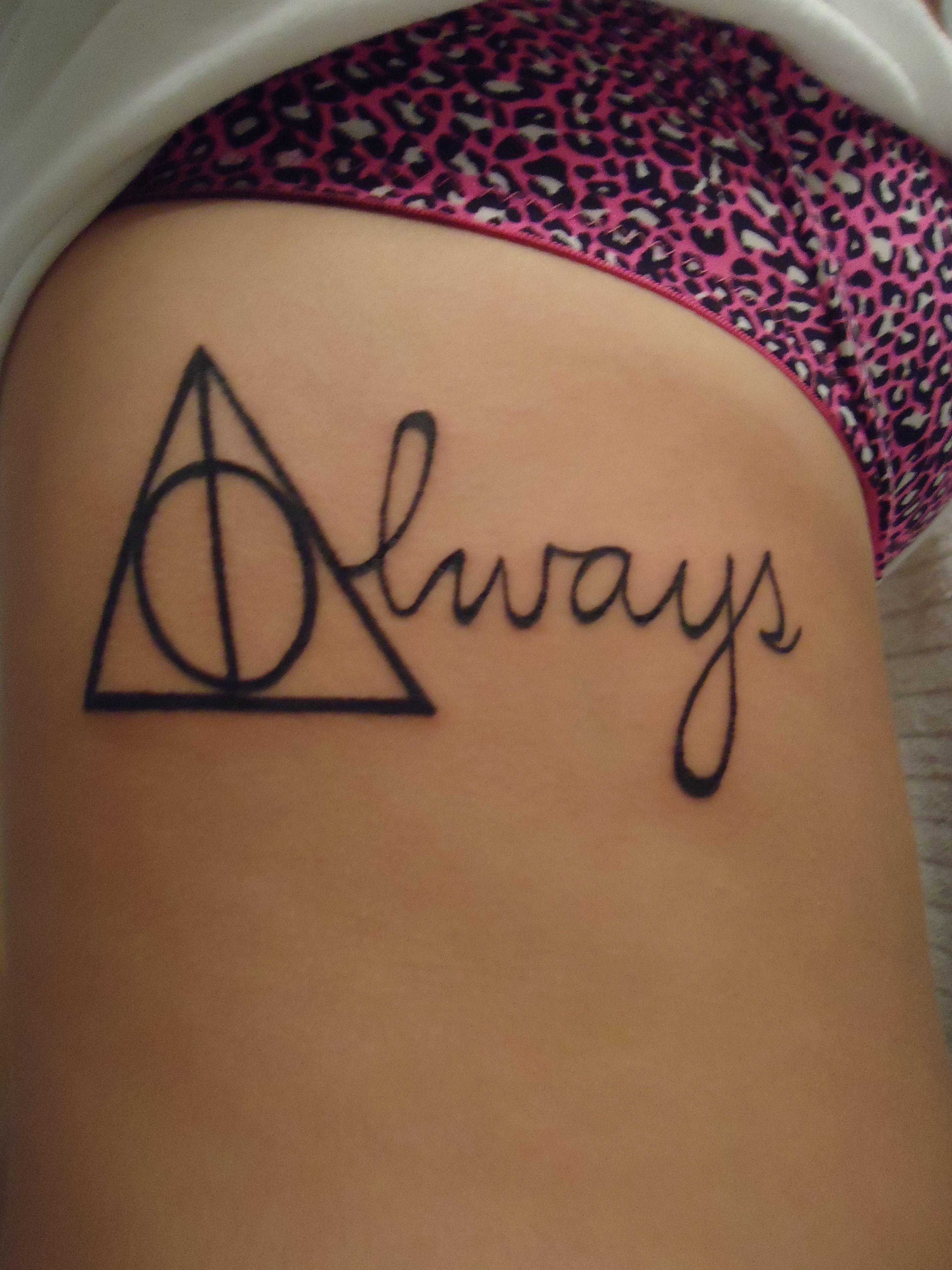 Always Deathly Hallows Harry Potter Theme Tattoo Harry Potter Tattoos Harry Potter Theme Always Tattoo
