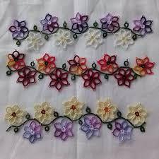 Resultado de imagen de tatted flowers