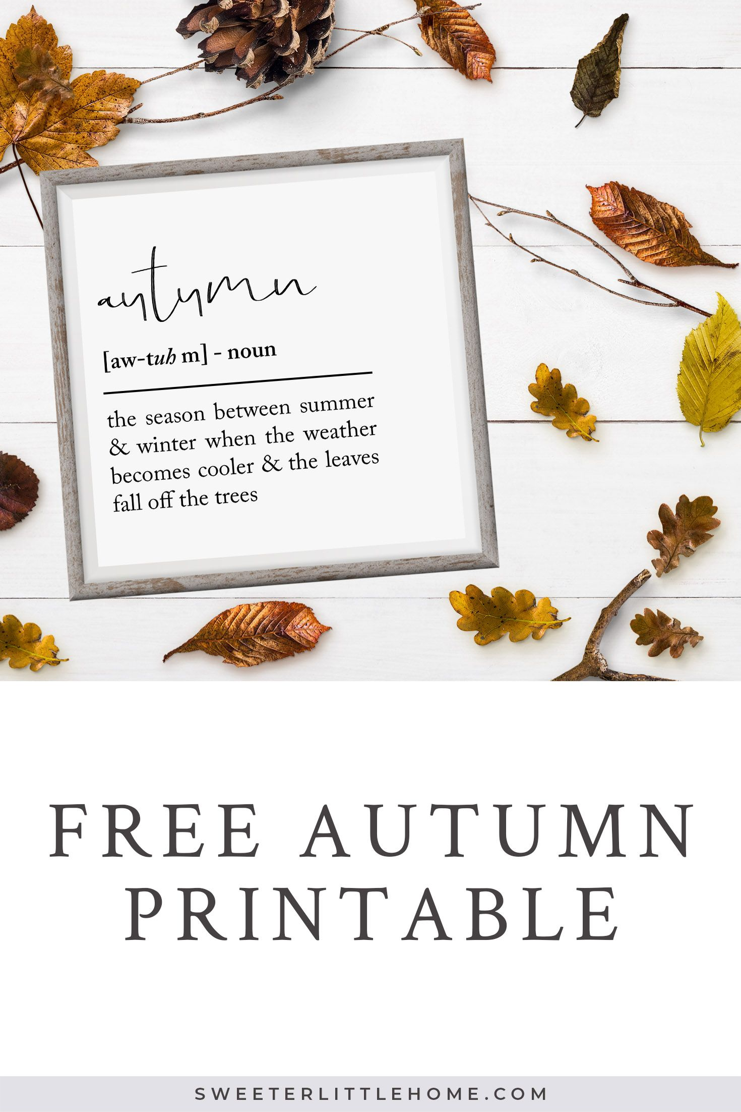 Free Autumn Printable Multiple Sizes Included