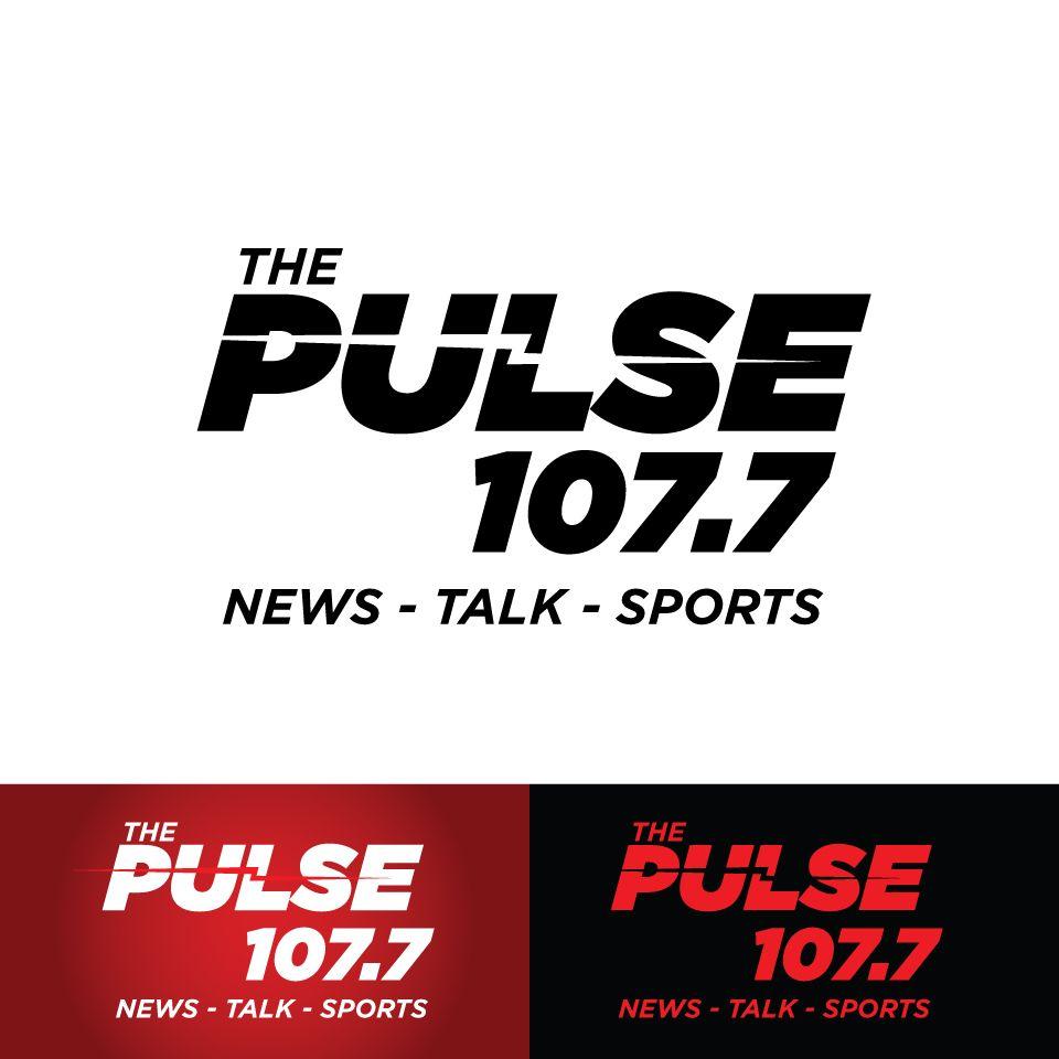 The Pulse 107,7 News, Talk, Sports Concept Logo