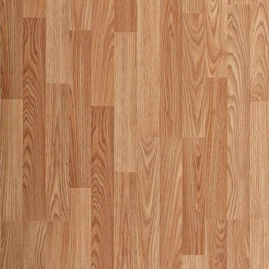 Style Selections Golden Oak 8 7 In W X 48 3 Ft L Embossed Wood
