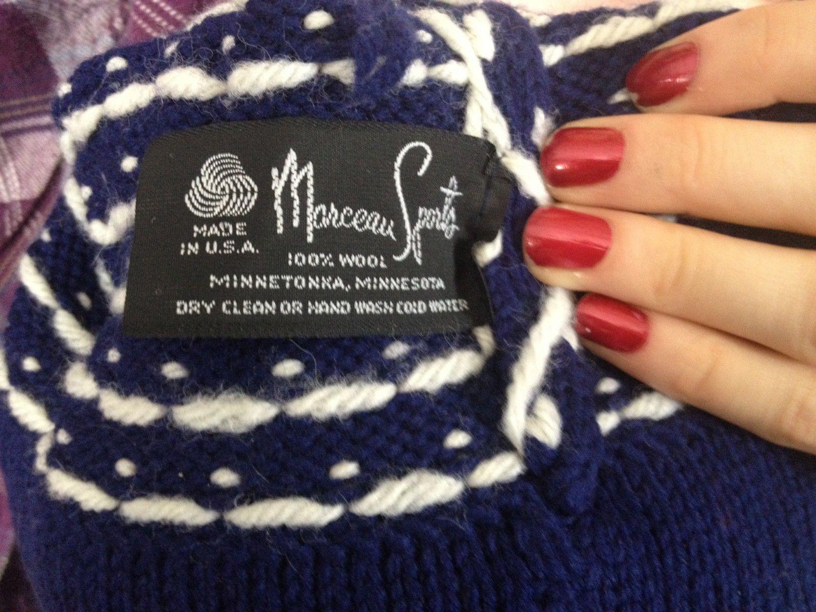 d2c65f57b9a Pom Pom Ski Hat Cap 100% Wool Marceau Sports Minnetonka
