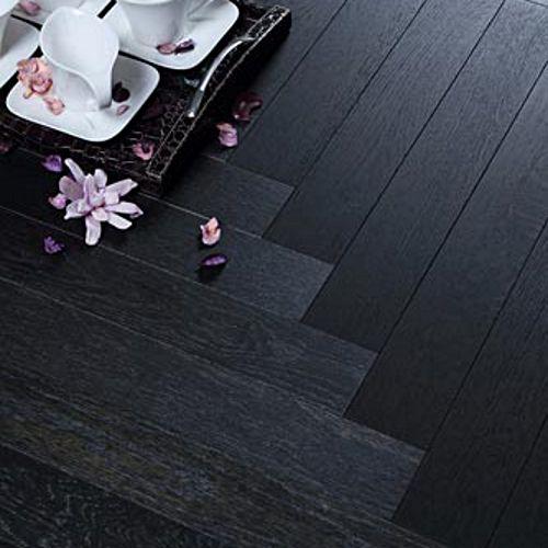 Dark Herringbone Wood Floor Loire Parquet Herringbone Black Oak