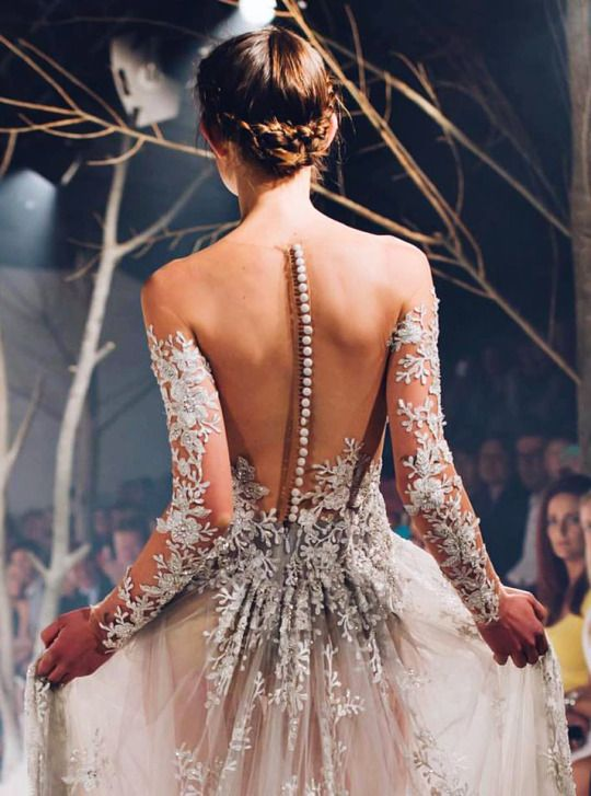 Detail at Paolo Sebastian 2016 A/W Couture. Ph: Meaghan Coles