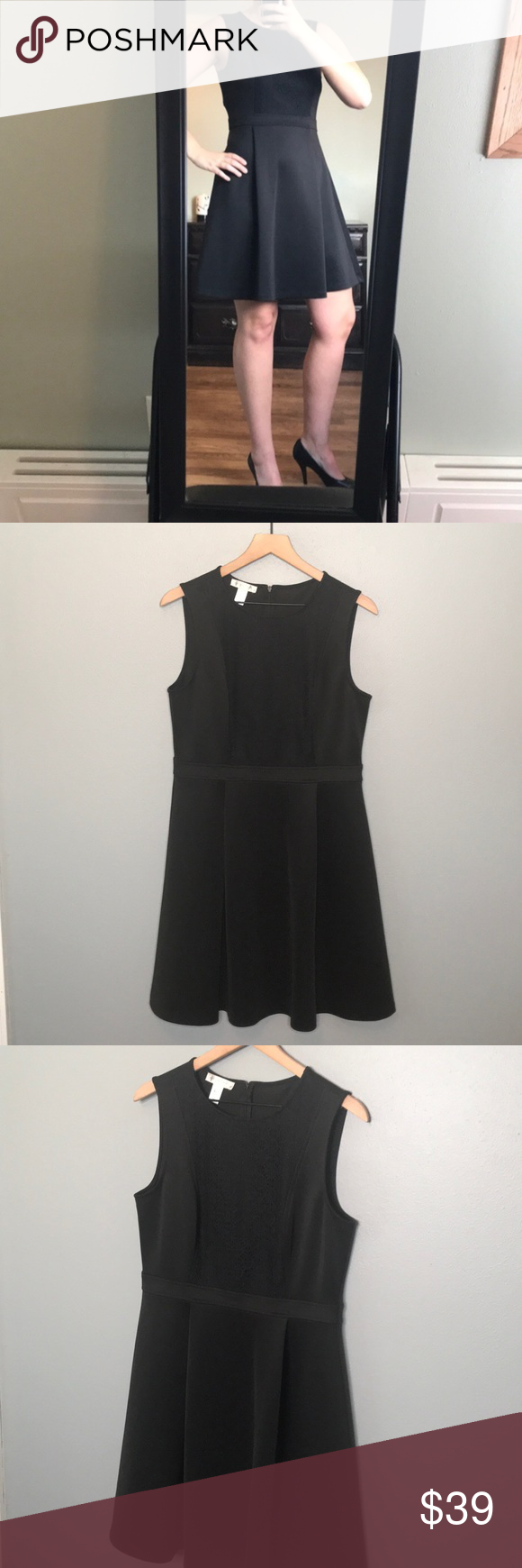 London Times Black Fit And Flare Dress Size 12 In 2021 Fit And Flare Dress Little Black Dress Classy Black Dresses Classy [ 1740 x 580 Pixel ]