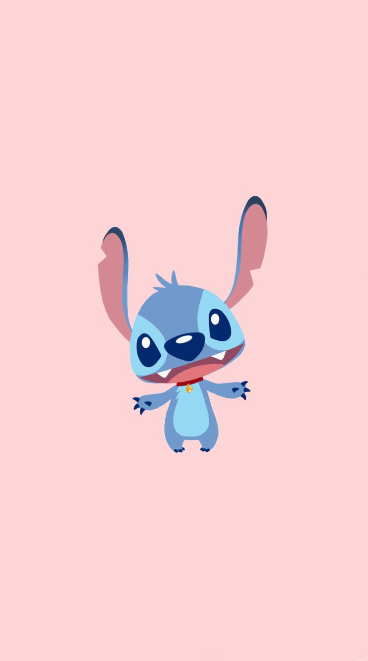 Stitch Cute Background Phone Background Pink Kartun