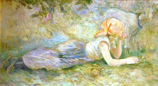 berthe morisot- bergere couchee | Berthe morisot, Morisot, Impressionism  painting